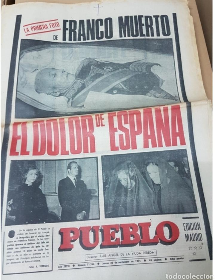Militaria: Lote periódicos muerte de Franco - Foto 12 - 182299971