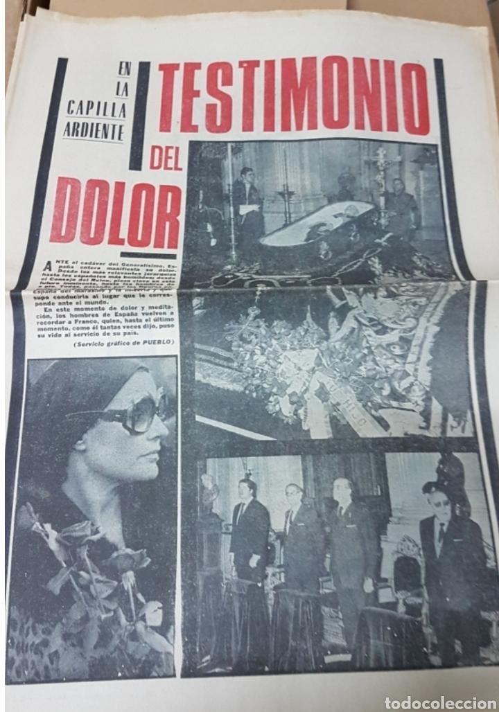 Militaria: Lote periódicos muerte de Franco - Foto 14 - 182299971