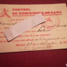 Militaria: DOCUMENTO DE LA GUERRA CIVIL ESPAÑOLA. Lote 182419410