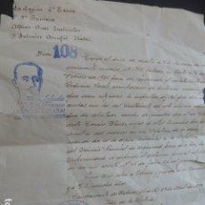 Militaria: ALICANTE CARTA JUEZ LA LEGION 9º TERCIO SOBRE HUELLAS DACTILARES ABRIL 1939. Lote 182989830