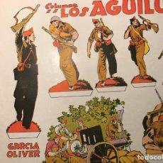 Militaria: F.A.I. RECORTABLE ORIGINAL DE SU EPOCA : LOS AGUILUCHOS DE GARCIA OLIVER. Lote 183559313