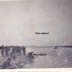 Militaria: SOLDADOS CTV FLECHAS NEGRAS ITALIANOS RIO GALLEGO ZARAGOZA ENERO 1938 GUERRA CIVIL. Lote 184075795