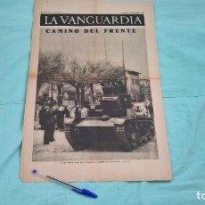 Militaria: TANQUE REPUBLICANO CAMINO DEL FRENTE..1936..GUERRA CIVIL..ANTITANQUISTAS. Lote 184511815