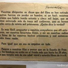 Militaria: OCTAVILLA BATALLA DEL EBRO GUERRA CIVIL PROPAGANDA MUY RARA. Lote 184751322