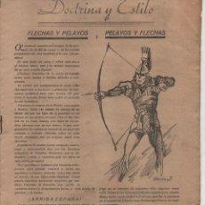 Militaria: REVISTA, FLECHAS Y PELAYOS. CONTIENE 16 PAGINAS, VER FOTOS. Lote 186052902