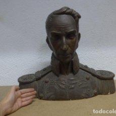 Militaria: ANTIGUO GRAN BUSTO DE SIMON BOLIVAR HECHO EN 1931 EN BARCELONA, DE LLUIS CAUSARAS.. Lote 186360007