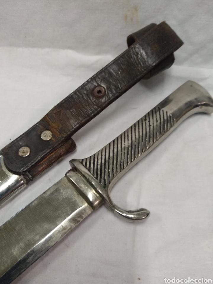 Militaria: Daga machete cuchillo de Falange para oficial - Foto 2 - 186402150