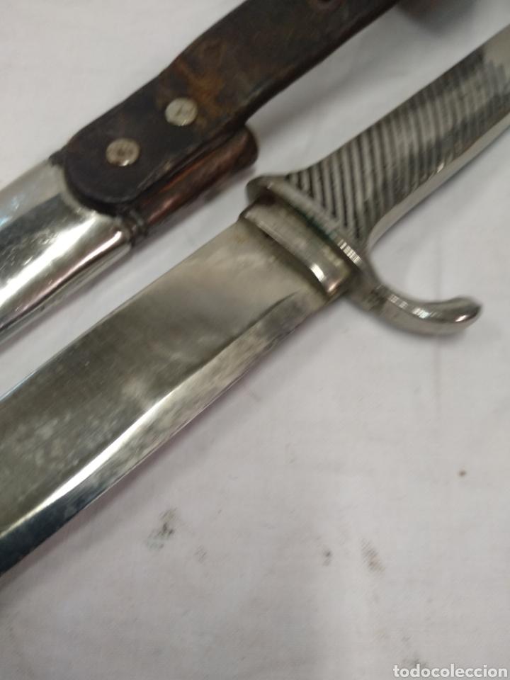 Militaria: Daga machete cuchillo de Falange para oficial - Foto 10 - 186402150
