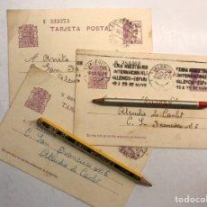 Militaria: MILITAR VALENCIA Y LA REPUBLICA. (3) TARJETAS ESCRITAS DESDE EL PENAL DE SAN MIGUEL DE LOS REYES. Lote 187402115