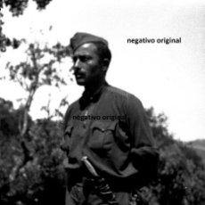 Militaria: NEGATIVO SOLDADO CTV FIAMME NERE NORTE BURGOS FRENTE NORTE 1937 GUERRA CIVIL MERINDADES. Lote 187414128