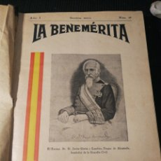Militaria: LA BENEMÉRITA. REVISTA PROFESIONAL 1938.GUERRA CIVIL. SEGUNDA EPOCA.. Lote 188627067