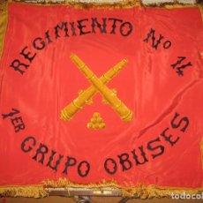 Militaria: ESPECTACULAR GUIÓN DE ARTILLERIA PRECIOSA FACTURA ARTESANAL CON CAJA DE TRANSPORTE - GUERRA CIVIL. Lote 191797620