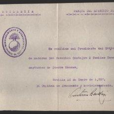 Militaria: SEVILLA, RECIBI 2 FUSILES MAUSER Y 300 CARTUCHOS DE GUERRA MAUSER, PTE. TRIBUNAL TUTELAR DE MENORES,. Lote 192136647