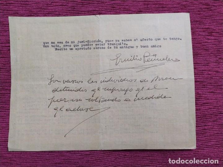 Militaria: 1938. Documento Estado Mayor de Ceuta. Firmado por Emilio Peñuelas, Coronel Jefe. - Foto 2 - 193186382