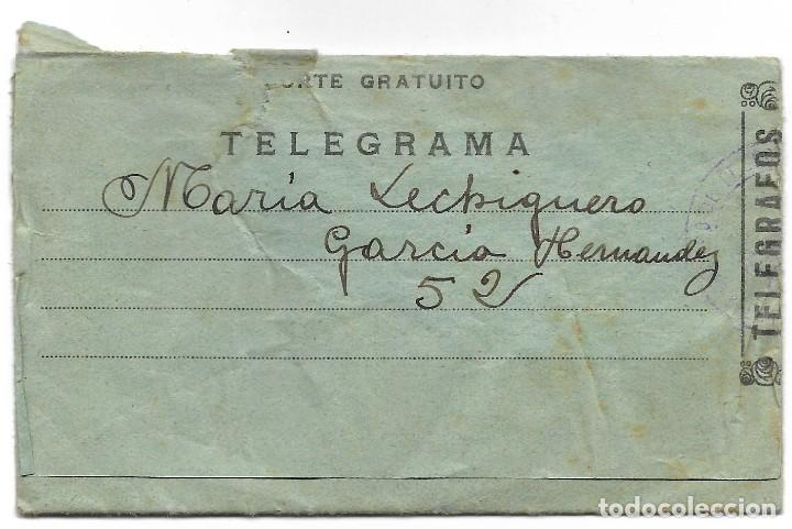 TELEGRAMA DE PUERTOLLANO A SUECA (VALENCIA) FECHADO EN MARZO DE 1937 (Militar - Guerra Civil Española)