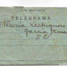 Militaria: TELEGRAMA DE PUERTOLLANO A SUECA (VALENCIA) FECHADO EN MARZO DE 1937. Lote 193345783