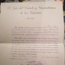 Militaria: MILITAR ESPAÑOL VARIAS ÉPOCAS TÍTULOS FRANCO, ETC. Lote 194096625
