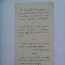 Militaria: GUERRA CIVIL : RECORDATOIO ALFEREZ MEDICO PROVISIONAL MUERTO POR ESPAÑA EN ZARAGOZA EN 1938. FOTO. Lote 194175240