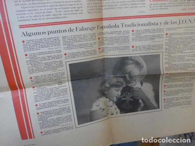Militaria: * Antiguo y raro cartel de guerra civil de 1939, catalan, jose antonio primo rivera, falange. ZX - Foto 5 - 194238567