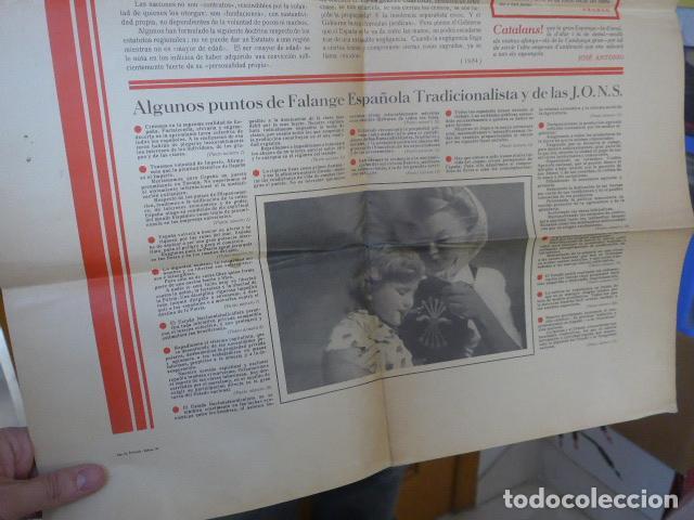 Militaria: * Antiguo y raro cartel de guerra civil de 1939, catalan, jose antonio primo rivera, falange. ZX - Foto 6 - 194238567