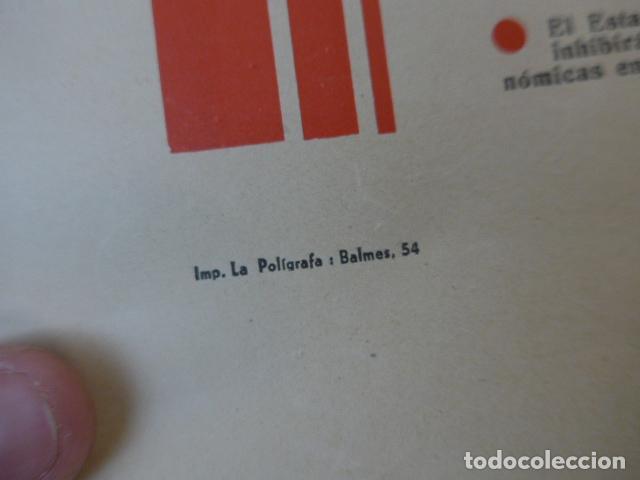 Militaria: * Antiguo y raro cartel de guerra civil de 1939, catalan, jose antonio primo rivera, falange. ZX - Foto 7 - 194238567