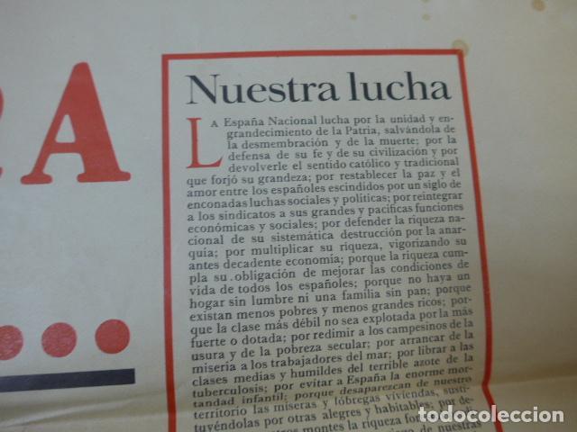 Militaria: * Antiguo y raro cartel de guerra civil de 1939, catalan, jose antonio primo rivera, falange. ZX - Foto 9 - 194238567