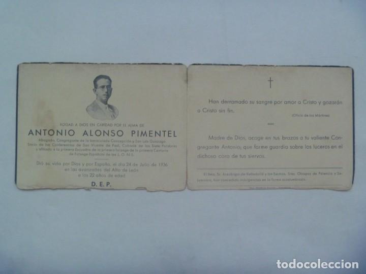 Militaria: GUERRA CIVIL - FALANGE : RECORDATOIO FALANGISTA MUERTO EN ALTO DE LEON EN 1936 - Foto 3 - 194242917