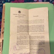 Militaria: CARTA COMISARÍA CIVIL DEL EJÉRCITO MILITARIZACIÓN FÁBRICAS 16 NOV 1936. Lote 194244216