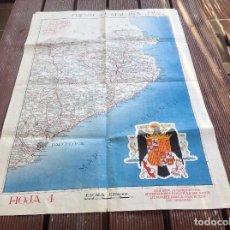 Militaria: MAPA FRENTE DE CATALUÑA Nº 4 -MAPAS MONRIGO- LITOGRAFIA ALVAREZ IRAOLA SAN SEBASTIAN. Lote 194301510