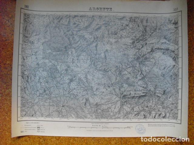MAPA DE ARGENTE DEL EJERCITO NACIONAL E 1:50000 SELLO DEL CUARTEL GENERAL DEL GENERALÍSIMO (Militar - Guerra Civil Española)