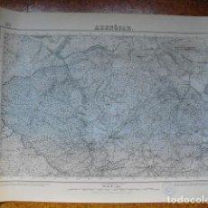 Militaria: MAPA DE ABENOJAR DEL EJERCITO NACIONAL E 1:50000 SELLO DEL CUARTEL GENERAL DEL GENERALÍSIMO. Lote 194380412