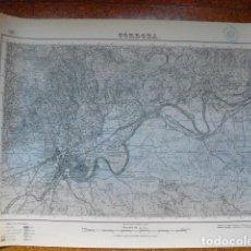Militaria: MAPA DE CORDOBA DEL EJERCITO NACIONAL E 1:50000 SELLO DEL CUARTEL GENERAL DEL GENERALÍSIMO. Lote 194380908