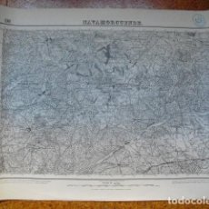 Militaria: MAPA DE NAVAMORCUENDE DEL EJERCITO NACIONAL E 1:50000 SELLO DEL CUARTEL GENERAL DEL GENERALÍSIMO. Lote 194381256