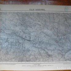Militaria: MAPA DE SAN BENITO DEL EJERCITO NACIONAL E 1:50000 SELLO DEL CUARTEL GENERAL DEL GENERALÍSIMO. Lote 194381431