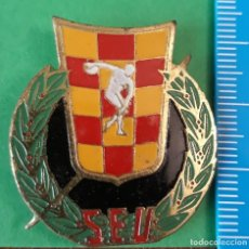 Militaria: CHAPA ANTIGUA S.E.U (SINDICATO ESPAÑOL UNIVERSITARIO). Lote 194495528