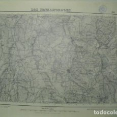 Militaria: MAPA DE LOS NAVALMORALES 1:50000 SELLO DEL CUARTEL GENERAL DEL GENERALÍSIMO. Lote 46213890