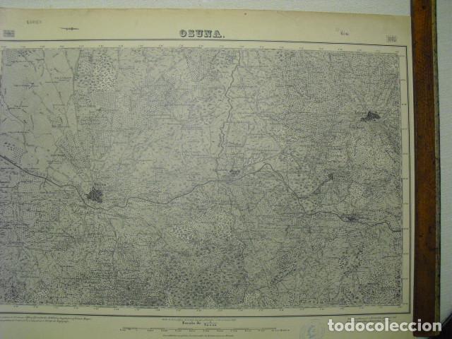 MAPA DE OSUNA DEL EJERCITO NACIONAL E 1:50000 SELLO DEL CUARTEL GENERAL DEL GENERALÍSIMO (Militar - Guerra Civil Española)