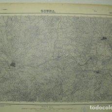 Militaria: MAPA DE OSUNA DEL EJERCITO NACIONAL E 1:50000 SELLO DEL CUARTEL GENERAL DEL GENERALÍSIMO. Lote 194528320