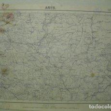 Militaria: MAPA DE AOIZ DEL EJERCITO NACIONAL E 1:50000 SELLO DEL CUARTEL GENERAL DEL GENERALÍSIMO. Lote 194529963