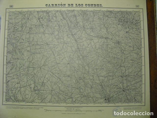 MAPA DE CARRION DE LOS CONDES EJERCITO NACIONAL E 1:50000 SELLO DEL CUARTEL GENERAL DEL GENERALÍSIMO (Militar - Guerra Civil Española)