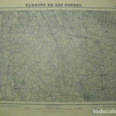 Militaria: MAPA DE CARRION DE LOS CONDES EJERCITO NACIONAL E 1:50000 SELLO DEL CUARTEL GENERAL DEL GENERALÍSIMO. Lote 194530256