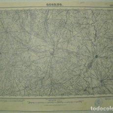 Militaria: MAPA DE OSORNO DEL EJERCITO NACIONAL E 1:50000 SELLO DEL CUARTEL GENERAL DEL GENERALÍSIMO. Lote 194530511