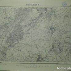Militaria: MAPA DE TURLEQUE 1:50000 SELLO DEL CUARTEL GENERAL DEL GENERALÍSIMO. Lote 46900448