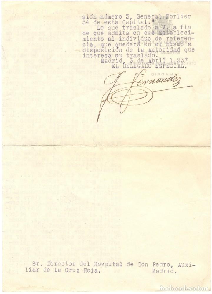 Militaria: TRASLADO DE PRISIONERO DE LA CÁRCEL DE GENERAL DÍEZ PORLIER A HOSPITAL - TRIBUNAL POPULAR 1937 - Foto 2 - 194534465