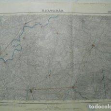 Militaria: MAPA DE BALTANAS DEL EJERCITO NACIONAL E 1:50000 SELLO DEL CUARTEL GENERAL DEL GENERALÍSIMO. Lote 194554343