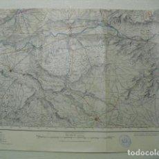 Militaria: MAPA DE QUINTANILLA DE ABAJO DEL EJ. NACIONAL E 1:50000 SELLO DEL CUARTEL GENERAL DEL GENERALÍSIMO. Lote 194554671