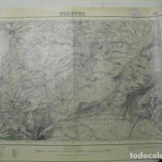 Militaria: MAPA DE CORESES DEL EJERCITO NACIONAL E 1:50000 SELLO DEL CUARTEL GENERAL DEL GENERALÍSIMO. Lote 194555438