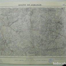 Militaria: MAPA DE MORON DE ALMAZAN DEL EJ. NACIONAL E 1:50000 SELLO DEL CUARTEL GENERAL DEL GENERALÍSIMO. Lote 194555937