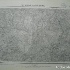 Militaria: MAPA DE HIENDELAENCINA DEL EJERCITO NACIONAL E 1:50000 SELLO DEL CUARTEL GENERAL DEL GENERALÍSIMO. Lote 194556262