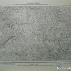 Militaria: MAPA DE LEDANCA DEL EJERCITO NACIONAL E 1:50000 SELLO DEL CUARTEL GENERAL DEL GENERALÍSIMO. Lote 194557676